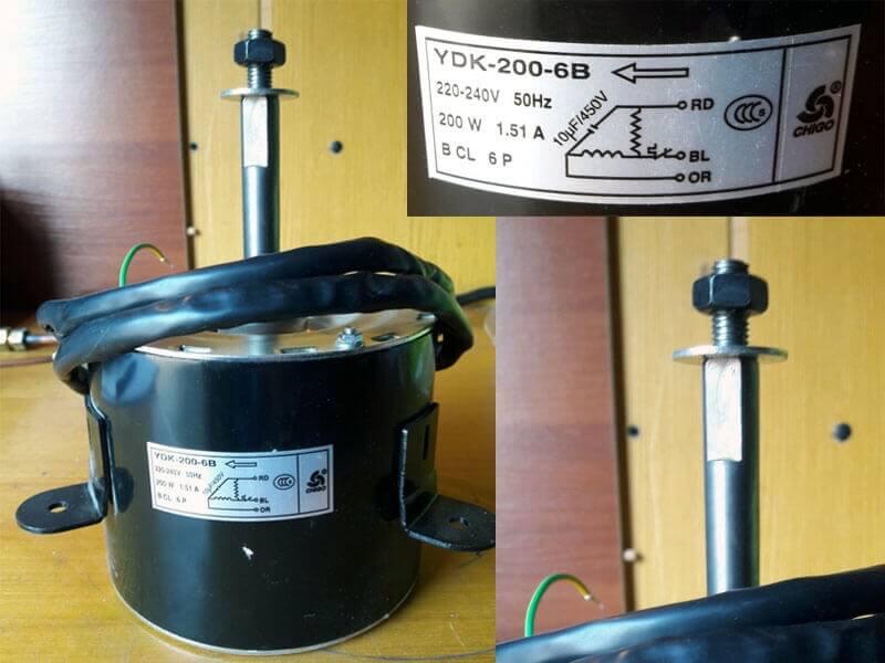 Двигатель (мотор) кондиционера YDK-200-6B