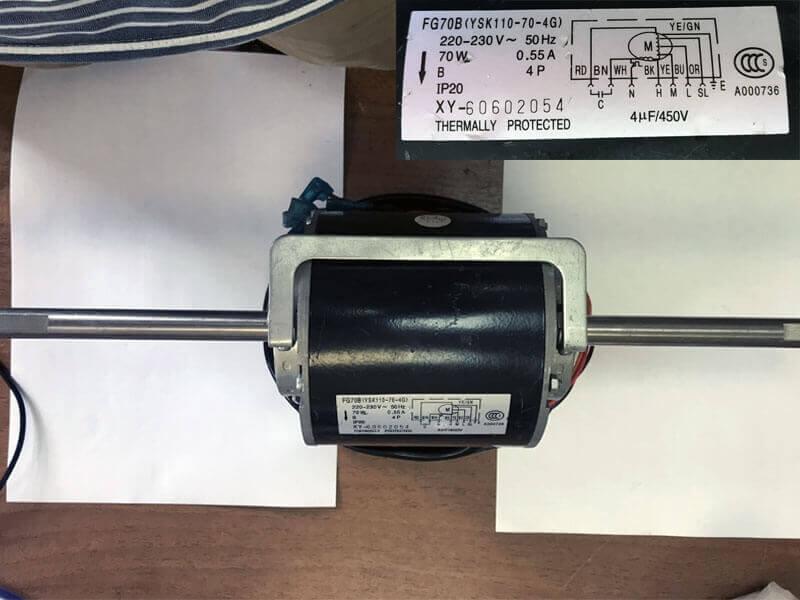 Двигатель (мотор) кондиционера FG70B (YSK110-70-4G)