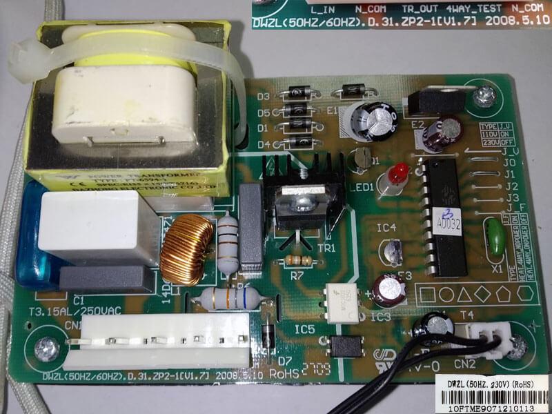 Модуль управления кондиционером DWZL(50HZ/60HZ).D.31.ZP2-1[V1.7] 2008.5.10