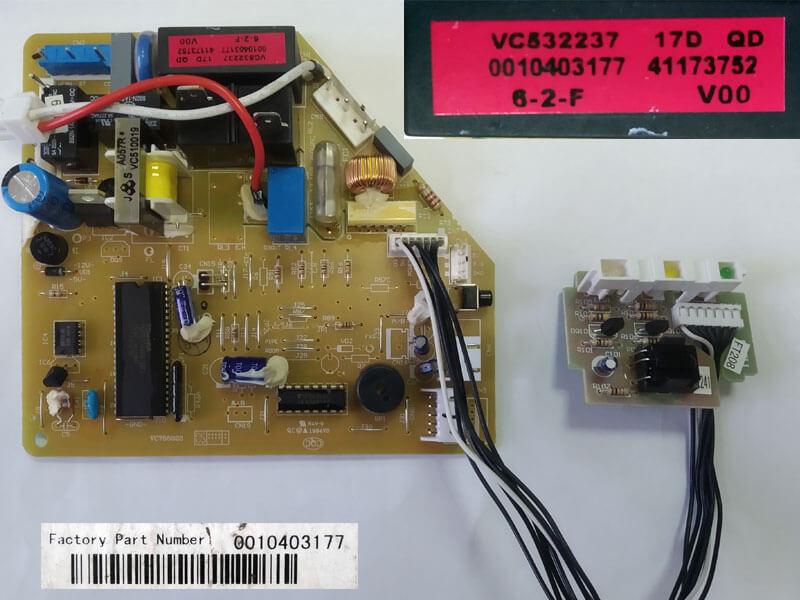 Плата управления кондиционером VC755023 VC532237 0010403177