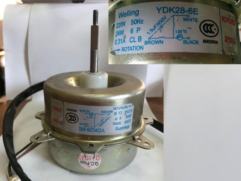 Двигатель (мотор) кондиционера YDK28-6E