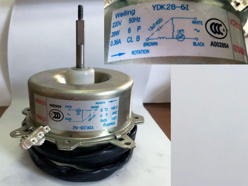 Двигатель (мотор) кондиционера YDK28-6I