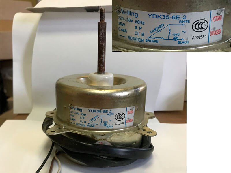 Двигатель (мотор) кондиционера YDK35-6E-2
