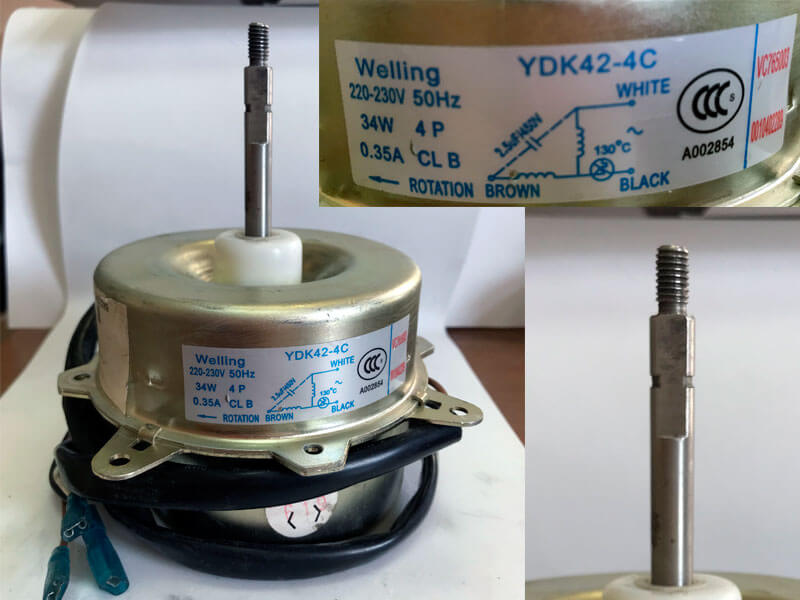 Двигатель (мотор) кондиционера YDK42-4C